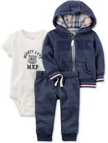 Carter's 3-Pc. Hunk Hoodie, Bodysuit and Jogger Pants Set, Baby Boys (0-24 months)