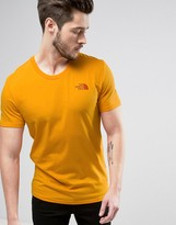 The North Face Simple Dome T-shirt In Orange