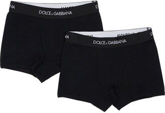 Dolce & Gabbana Pack Of 2 Stretch Jersey Boxer Briefs