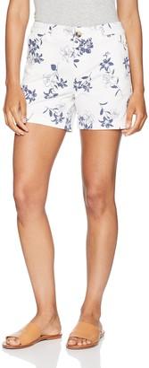 "Amazon Essentials Women's 5"" Inseam Patterned Chino Short Shorts"