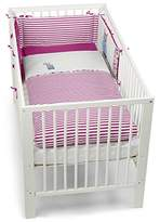 Sterntaler Cot Bumper with Coordinated Baby Cot Bedding (Emilie The Owl, 135 x 100 cm)