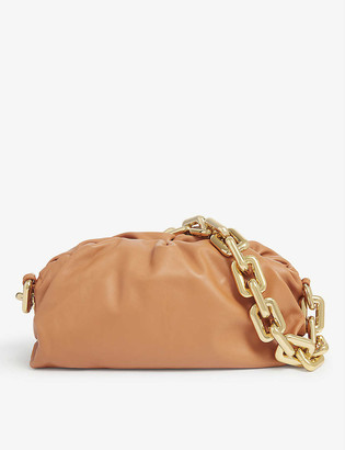Bottega Veneta The Pouch chained leather clutch