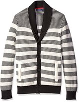 Nautica Men's Striped Shawl Neck Cardigan