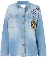 Mira Mikati denim patch jacket