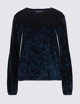 M&S Collection Crushed Velvet Long Sleeve Sweatshirt