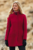 Lands' End Women's Petite Wool Parka-Vicuna