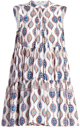 Chloé Ceramic-Print Silk Habotai A-Line Dress