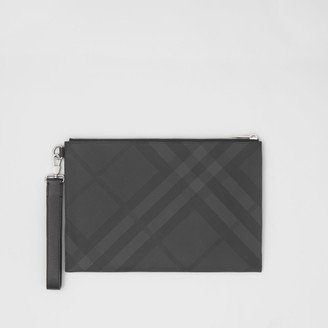 Burberry Check and Leather Zip Pouch