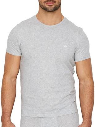 Emporio Armani Pure Cotton Crew Neck T-Shirt 3-Pack
