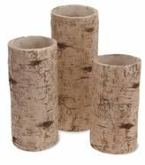 Birch Pillar Set of 3