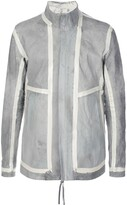 Boris Bidjan Saberi Striped Panel Leather Jacket