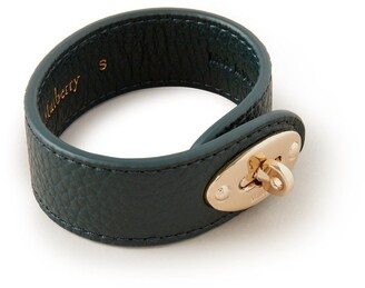 Mulberry Bayswater Leather Bracelet Green Small Classic Grain