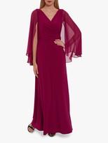 Gina Bacconi Piera Jersey Maxi Dress With Cape