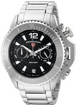 Swiss Legend Men's 'Scorpion' Quartz Stainless Steel Watch, Color:Silver-Toned (Model: 14019SM-11)