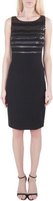Jason Wu Black Jersey Sequin Embellished Sleeveless Sheath Dress S