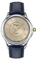 Salvatore Ferragamo Men's 'Time Automatic' Swiss Made Automatic Stainless Steel and Leather Watch (Model: FFT010016)