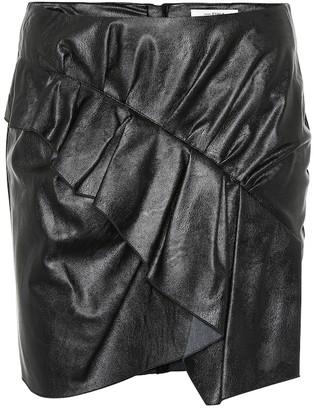 Etoile Isabel Marant Zeist ruffled faux leather skirt