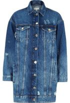 River Island Womens Mid blue authentic longline denim jacket