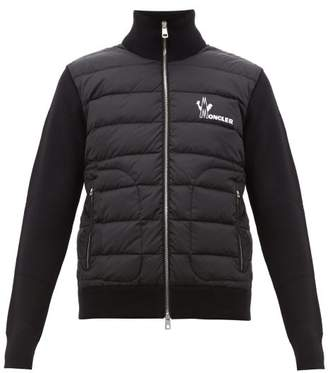 Moncler Logo-print Quilted Zip-up Track Top - Mens - Black