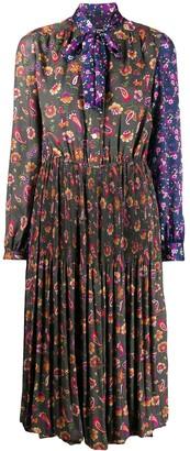 Junya Watanabe Floral-Print Pleated Dress
