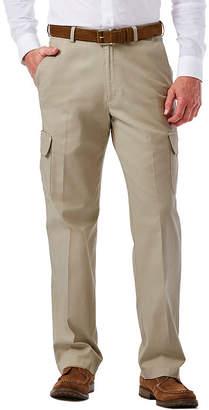 Haggar Stretch Comfort Cargo Classic-Fit Flat-Front Pants
