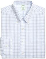 Brooks Brothers Men's Milano Extra Slim-Fit Non-Iron Blue Plaid Dress Shirt