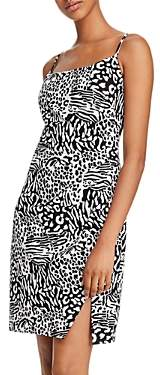 Laundry by Shelli Segal Ruched Zebra Print Mini Dress - 100% Exclusive