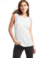 Gap Luxe crochet-trim muscle tank