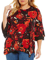 Westbound Plus 3/4 Double Bell Sleeve Tunic