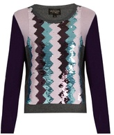 Giambattista Valli Sequin-embellished round-neck cashmere sweater