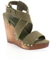Joie Cecilia Suede Crisscross Wedge Sandals
