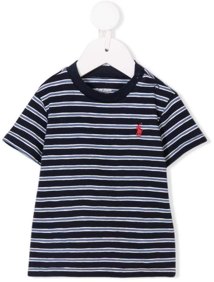 Ralph Lauren Kids striped logo T-shirt