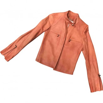 Chanel Pink Leather Coat for Women