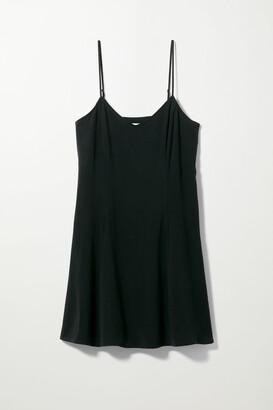 Weekday Fawn Mini Slip Dress - Black