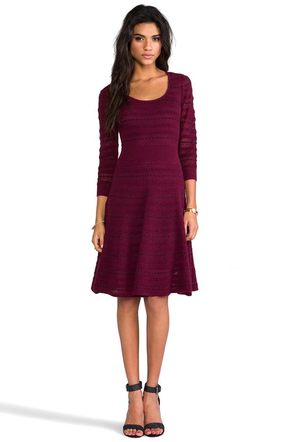 Catherine Malandrino Assunta Long Sleeve Fit and Flare Dress