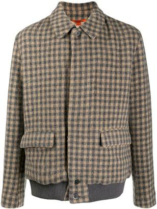 Barena Long-Sleeved Check Pattern Jacket