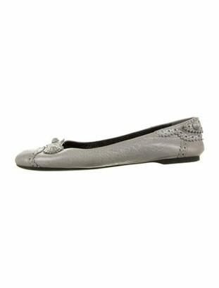Balenciaga Leather Ballet Flats Grey