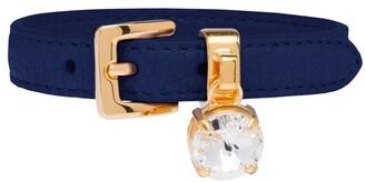 Miu Miu Crystal-Embellished Leather Bracelet