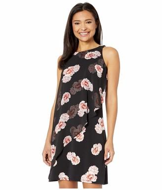 Tommy Hilfiger Women's Jersey Chiffon Printed Dress