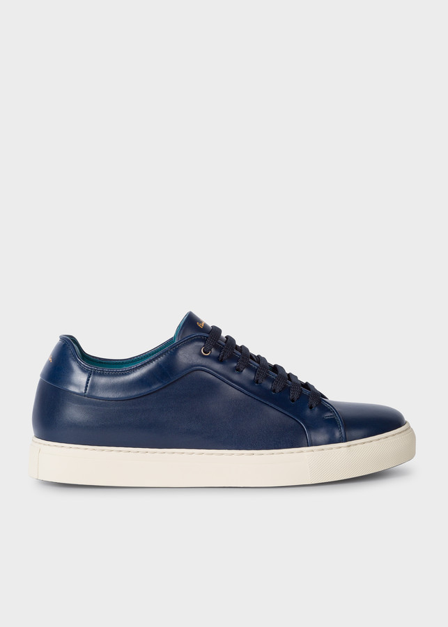 Paul Smith Men's Navy Leather 'Basso' Sneakers