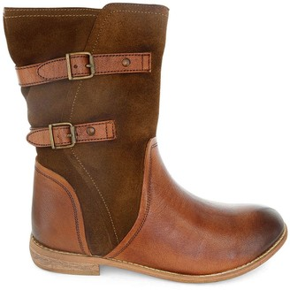 ROAN Mid-Calf Leather Boots - Suze