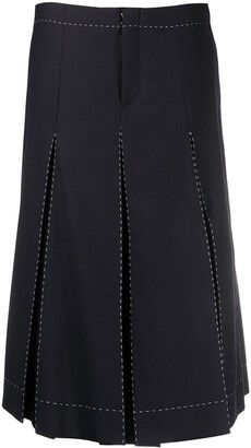 Maison Margiela Pleated Mid-Length Skirt