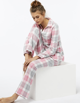 Monsoon Ariel Brush Cotton Check Pyjama Set