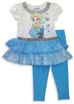Nannette Girls 2-6x Frozen 2-Piece Dress and Leggings Set