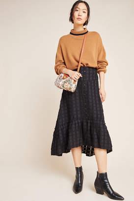 Anthropologie Merida Flounced Midi Skirt