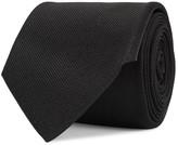 Alexander Mcqueen Black Silk Twill Tie