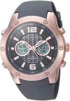 Sean John Men's Quartz Metal and Silicone Casual Watch, Color: (Model: SJ50021001)