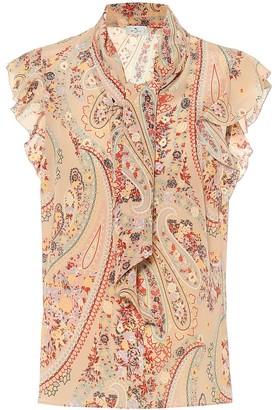 Etro Paisley crepe-de-chine blouse