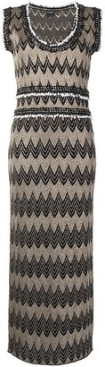 Giambattista Valli Geometric-Print Wool-Blend Dress