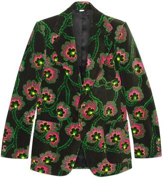 Gucci Ken Scott print velvet jacket